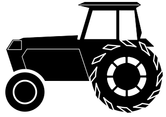 Tractor Silhouette Working Vehicles Tractor Tractor