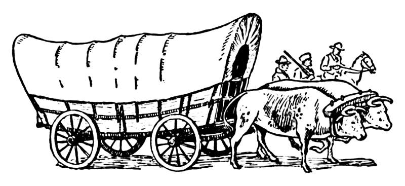 wagon train coloring pages - photo#4